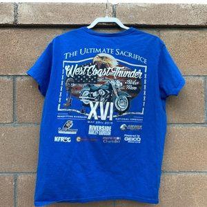 Gilden Harley Davidson  women's T-shirt size L